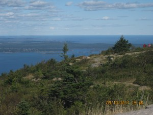 View 3 of Bar Harbor, Maine from summit of Cadillac Mountain