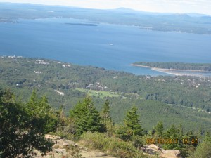 View 2 of Bar Harbor, Maine from summit of Cadillac Mountain