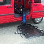 My 2011 Ford Transit Connect Van With Wheelchair Lift Deployed