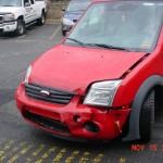 View of Left Front Damage To My Ford Transit Wheelchair Van