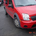 View of Right Front Damage To My Ford Transit Wheelchair Van